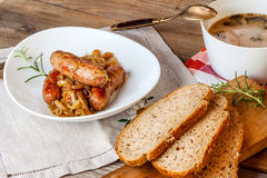 Traditional Polish soup sourdough. Royalty Free Stock Image