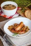 Traditional Polish soup sourdough. Stock Image