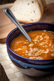 Traditional polish tripe soup with vegetables. Royalty Free Stock Images