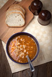 Traditional polish tripe soup with vegetables. Royalty Free Stock Image