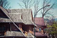 Traditional polish wooden hut from Zakopane, Poland. Royalty Free Stock Photos