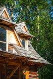 Traditional polish wooden hut from Zakopane, Poland. Stock Photo