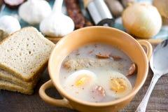 Traditional polish Zurek, easter soup. Stock Images