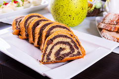 Traditional poppy-seed cake Royalty Free Stock Image