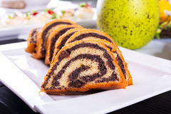 Traditional poppy-seed cake Stock Photo
