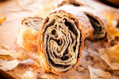 Traditional poppy strudel Stock Photography