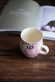 Traditional porcelain empty teacup Royalty Free Stock Photos