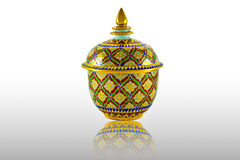 Traditional porcelain thai style art Stock Photography