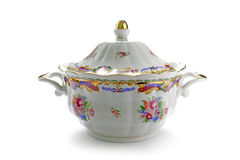 Traditional porcelain tureen Royalty Free Stock Photo