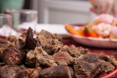 Traditional pork meat for Christmas Stock Image