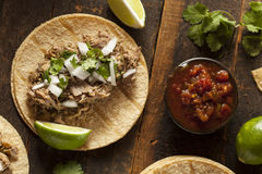 Traditional Pork Tacos Stock Image
