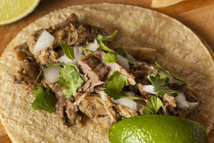 Traditional Pork Tacos Stock Photo