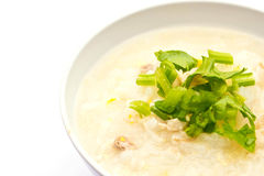 Traditional porridge rice gruel in bowl Royalty Free Stock Photography