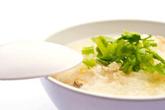 Traditional porridge rice gruel in bowl Royalty Free Stock Photo