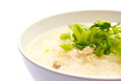 Traditional porridge rice gruel in bowl Royalty Free Stock Image