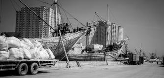 Traditional port in Sunda Kelapa, Jakarta Indonesia. Sunda Kelapa is one oldest port in Indonesia. the port operation was operated under Banten empire in 18 stock photos