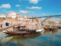 Traditional port wine boats, Porto,  Portugal Royalty Free Stock Image