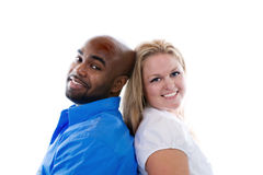 Traditional Portrait. A portrait of a couple in a traditional pose royalty free stock images