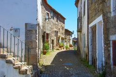 Traditional Portugal old street. Monsanto Stock Photography