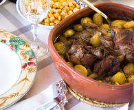 Traditional portugal food. Varies of meat stock photos