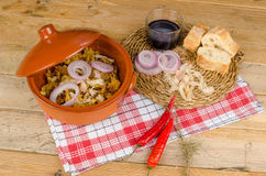 Traditional Portugese cod casserole Royalty Free Stock Photo