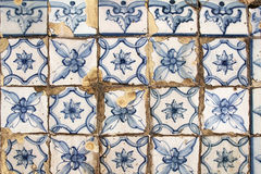 Traditional portugese tiles background Stock Images