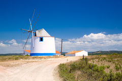 Traditional portugese windmill Stock Photo
