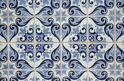 Traditional Portuguese azulejos. Painted ceramic tilework Royalty Free Stock Images