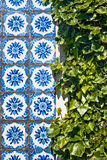 Traditional portuguese azulejos Stock Photos