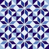 Traditional Portuguese blue mosaic tile pattern vector illustration