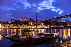 Amazing Porto at night Portugal Stock Photography