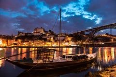Amazing Porto at night Portugal Stock Photos