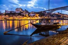 Traditional Portuguese boat in Porto Portugal Stock Photo