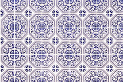 Traditional portuguese ceramic mosaic Royalty Free Stock Photos