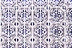 Traditional Portuguese Ceramic Mosaic Royalty Free Stock Photos