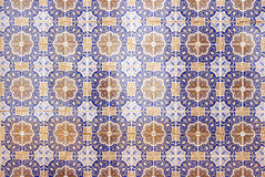 Traditional portuguese ceramic mosaic Stock Images