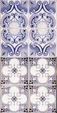 Traditional portuguese ceramic mosaic Stock Images