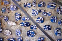 Traditional portuguese ceramic, in Porto. Royalty Free Stock Photo