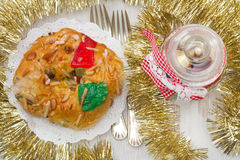Traditional portuguese Christmas cake Royalty Free Stock Images