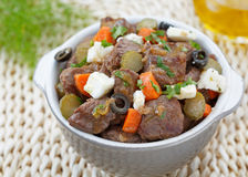 Traditional portuguese dish of beef Stock Photography