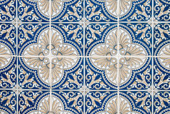 Traditional Portuguese glazed tiles Stock Photography