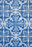 Traditional Portuguese glazed tiles royalty free stock photo