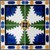 Traditional Portuguese glazed tiles Royalty Free Stock Photos