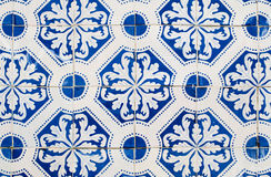 Traditional Portuguese glazed tiles Stock Photo