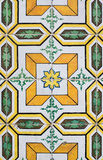 Traditional Portuguese glazed tiles Royalty Free Stock Photos