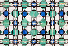 Traditional Portuguese glazed tiles Royalty Free Stock Images