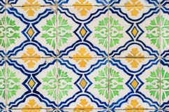 Traditional Portuguese glazed tiles Stock Images