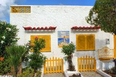 Traditional portuguese house in Olhao stock photo