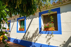 Traditional portuguese house in a village, Alentejo Portugal Europe Royalty Free Stock Images