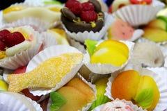 Traditional Portuguese marzipan almond cakes Stock Photo